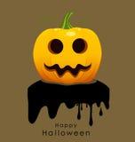 Happy Halloween design background with Halloween pumpkin. Vector Royalty Free Stock Photos