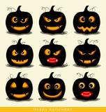Happy Halloween design background with Halloween pumpkin. Vector Stock Images