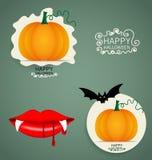 Happy Halloween design background with Halloween pumpkin. Vector Stock Photos