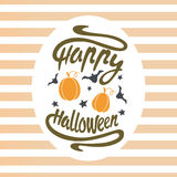 Happy Halloween design background. Happy Halloween message design background. Vector illustration. This illustration can be used as a greeting, invitation Royalty Free Stock Photography