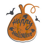 Happy Halloween design background. Happy Halloween message design background. Vector illustration. This illustration can be used as a greeting, invitation Royalty Free Stock Image