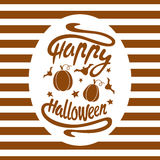 Happy Halloween design background. Happy Halloween message design background. Vector illustration. This illustration can be used as a greeting, invitation Stock Photo
