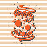 Happy Halloween design background. Happy Halloween message design background. Vector illustration. This illustration can be used as a greeting, invitation Stock Illustration