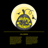 Happy Halloween design background. Happy Halloween message design background. Vector illustration. This illustration can be used as a greeting, invitation Royalty Free Illustration