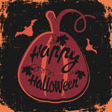 Happy Halloween design background. Happy Halloween message design background. Vector illustration. This illustration can be used as a greeting, invitation Stock Image