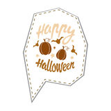 Happy Halloween design background. Happy Halloween message design background. Vector illustration. This illustration can be used as a greeting, invitation Royalty Free Stock Photo