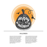 Happy Halloween design background. Happy Halloween message design background. Vector illustration. This illustration can be used as a greeting, invitation Stock Images