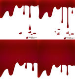 Happy Halloween design banners. Blood dripping, blood background Royalty Free Stock Photo