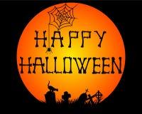 Happy Halloween design theme background - Vector illustration Stock Images