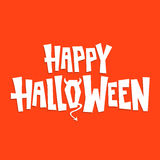 Happy halloween devil sign vector illustration red Royalty Free Stock Photography