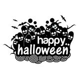 Happy halloween doodles. illustration in vector format Stock Images