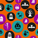 Happy Halloween elements seamless pattern background EPS10 file. Stock Photo