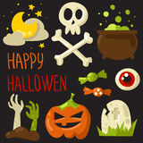 Happy Halloween elements set Royalty Free Stock Image