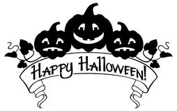 Happy Halloween elements for your greeting card design. Royalty Free Stock Photography