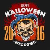 Happy Halloween. Evil clown skull Stock Photography