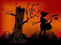 Happy Halloween Evil forest Stock Photos