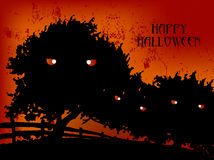Happy Halloween Evil forest. Group of Illudtration Art for Halloween Event, Happy Halloween Evil forest stock illustration