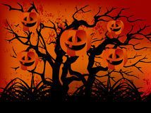 Happy Halloween Evil forest Royalty Free Stock Images