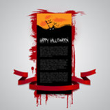 Happy Halloween Flyer, Banner or Cover Design Royalty Free Stock Image