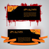 Happy Halloween Flyer, Banner or Cover Designs Royalty Free Stock Images