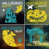 Happy halloween flyer Royalty Free Stock Images