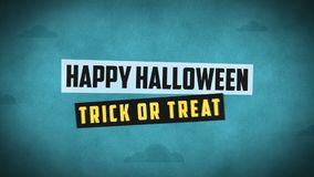 Happy halloween forest mountain castle bats. Motion Graphics. Intro Video stock video footage