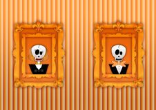 Happy halloween frame Stock Images