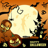 Happy halloween frame Royalty Free Stock Photos