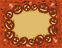 Happy Halloween Frame Stock Photography