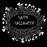 Happy halloween frame vector Royalty Free Stock Images