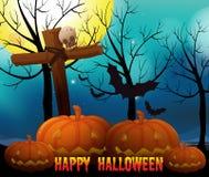 Happy halloween on fullmoon night Royalty Free Stock Photo
