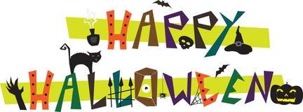 Happy Halloween. Fun text. Eps10 Royalty Free Stock Photos