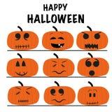 Happy Halloween funny pumpkins Stock Images