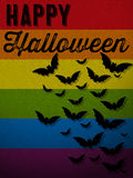 Happy Halloween Ghost Bat Icon Background Royalty Free Stock Photos