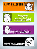 Happy Halloween Ghost Bat Icon Background Stock Image