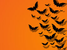 Happy Halloween Ghost Bat Icon Background Royalty Free Stock Images