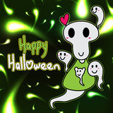Happy Halloween ghost friendly Royalty Free Stock Photos
