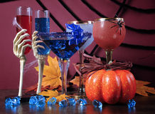Happy Halloween ghoulish party cocktail drinks Stock Images