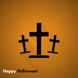 Happy Halloween. Gravestone icon Stock Photos