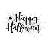 Happy halloween greeting Stock Images