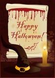 Happy Halloween greeting card.  Stock Photography