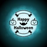 Happy halloween greeting card on background of Royalty Free Stock Photography