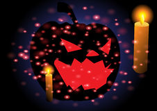 Happy Halloween with greeting card Royalty Free Stock Images