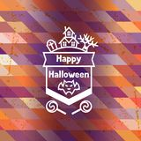 Happy halloween greeting card with badges ang Stock Photography