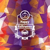 Happy halloween greeting card with badges ang Royalty Free Stock Image