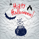 Happy Halloween greeting card with a boiling Stock Photography