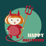 Happy Halloween greeting card Stock Photos