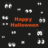 Happy Halloween greeting card in the dark eyes Stock Photo