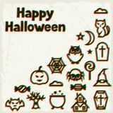 Happy halloween greeting card with effect overlay Royalty Free Stock Images