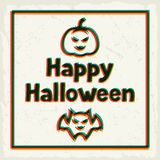Happy halloween greeting card with effect overlay Royalty Free Stock Photography